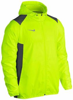 Nike Golf Mens Printed Packable Hooded Jacket in Volt 7303 S