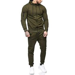 YOcheerful Mens Sports Suit Top Pants Sets Sweatshirt Hooded