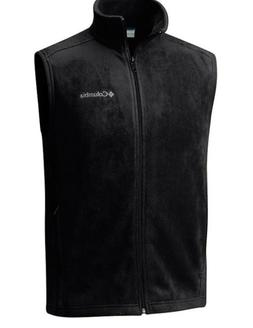 Mens Columbia Steens Mountain Full Zip Fleece Vest Black Siz