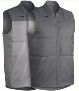 Nike Mens Synthetic Fill Core Reversible Golf Vest Grey 9323