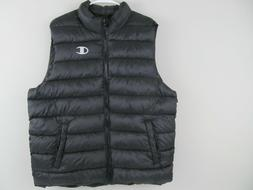 Champion Mens XL Black Quilted Puffer Vest Lightweight Comfo