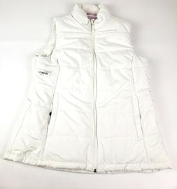 Amazon Essentials Mid-Weight Puffer Vest Ivory White Sz L