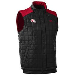 Under Armour NCAA Utah Utes Men's Puffer Vest, Black, Medium