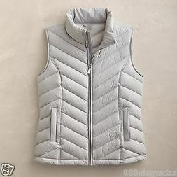 New $100 TravelSmith Women's Packable Down Chevron Vest - 90