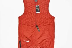 New Nike Aeroloft Men's Running Vest Multi Size Dune Red MSR