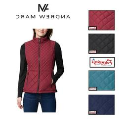 NEW!! Ladies' Andrew Marc Full Zip Quilted Insulated Vest -