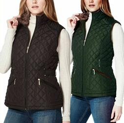 NEW Weatherproof Ladies' Ultra Soft Cozy Lining Quilted Vest