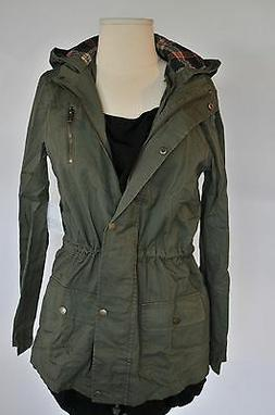 New Lightweight Military Army Green Jacket with hoodie elbow