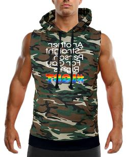New Men's Another Straight For Gay Rights #LGBT Camo Sleevel