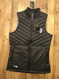 New Nike Men's Dry-Fit Aeroloft Aerolayer RUNNING VEST Black