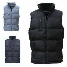 New Men's Hooded Puffy Puffer Sleeveless Jacket Winter Thick