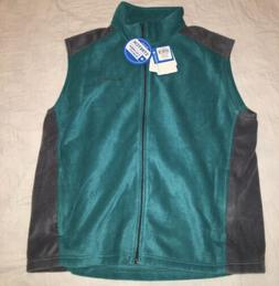 NEW Men's Columbia Steens Mountain Fleece Vest Size XL Turqu
