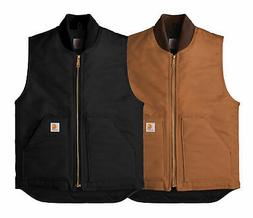 New Mens Carhartt Arctic Quilt Lined Duck Vest CTV01 - Pick