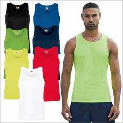 Fruit of the Loom Mens Performance Athletic Vest Sports Gym