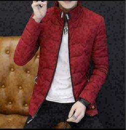 New stylish Men's winter coat short stand collar jacket men