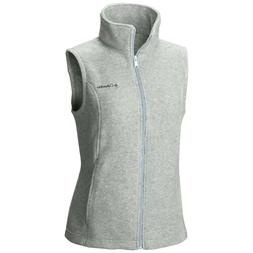 "New Womens Columbia ""Benton Springs"" Full Zip Fleece Vest XS"