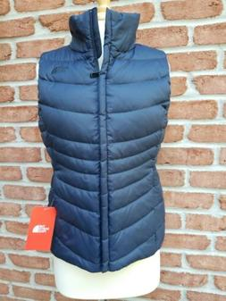 North Face Womens Med Aconcagua Down Vest II. Urban Navy.