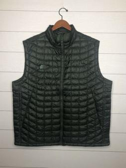 NWOT The North Face Insulated Quilted Vest Olive Green Therm