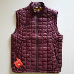 NWT The North Face Men's Thermoball Vest. Deep Garnet Red.