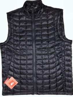 NWT THE NORTH FACE MEN THERMOBALL TNF BLACK VEST STANDARD FI