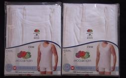 NWT Mens FRUIT OF THE LOOM 2 White Sleeveless Vest Tank Top