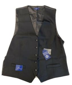 NWT! Gioberti Mens 5 Button Formal Suit Vest, Black, X-Large