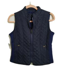 NWT New Directions Petite Navy Blue Quilted Women's Size Sma