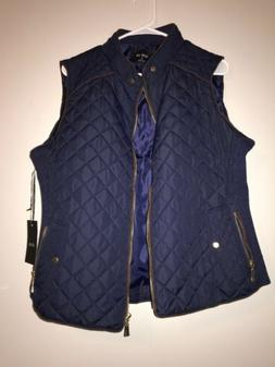 NWT Active USA Navy Puffer Vest Quilted size 1XL Winter Fall
