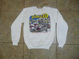 NWT VTG Glamis The Sand Toy Capitol Of The World White Sweat