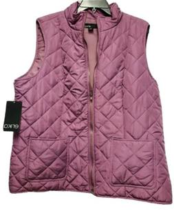 NWT Woman ERIKA Quilted VEST JACKET Size 1X Mauve Pink Full