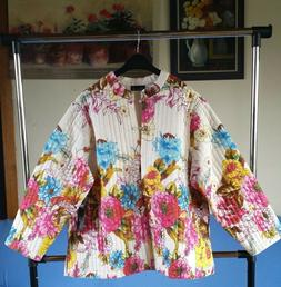 Nwt! Women's Quilted Jacket Phool Fashion Cotton Reversible