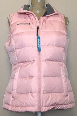 NWT Womens Free Country Quilted Winter Down Vest Peach Pink