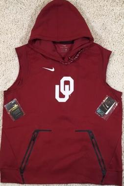 Oklahoma Sooners OU Nike Dri Fit Therm Hooded On Field Vest