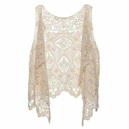 Jastie Open Stitch Cardigan Boho Hippie Butterfly Crochet Ve