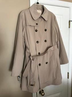 Covington outerwear Woman's Beige Belted Trench Double Bre