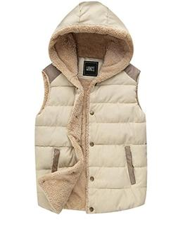 ZSHOW Women's Outwear Sport Casual Warm Thick Hooded Vest Fl