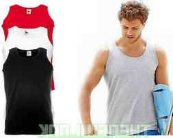 PACK OF 5 FRUIT OF THE LOOM VEST PLAIN ATHLETIC TANK TOP GYM