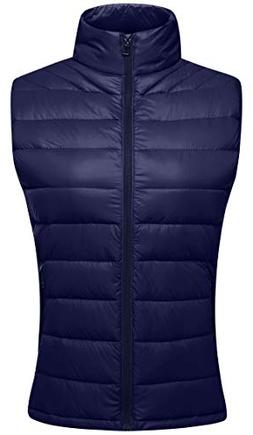 Wantdo Women's Packable Lightweight Outdoor Down Puffer Vest