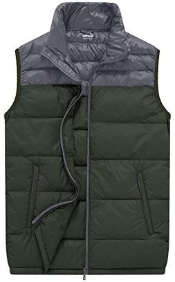Wantdo Men's Packable Outdoor Ultra Light Heated Down Vest,