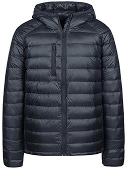 Wantdo Men's Packable Ultra Light Weight Hooded Puffer Down