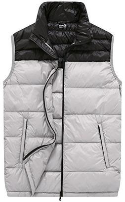 Wantdo Men's Packable Ultralight Travel Down Vest Winter Jac