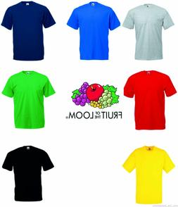 Fruit of the Loom Plain Men's Women's Tee Shirt Tshirt T-Shi