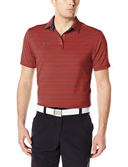 Under Armour Men's Playoff Polo, Neon Coral /Rhino Gray, Lar