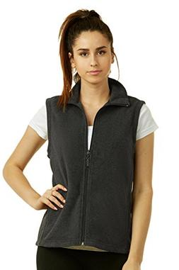 Sofra Women's Polar Fleece Full Zip Up Winter Vest