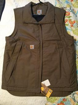 Carhartt Quick Duck Woodward Vest -Size L/Tall Tan Brown Wei