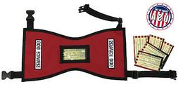 Quick-Ship Service Dog Vest w/ FREE patches & 5 FREE Info Ca