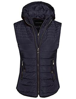 Made by Emma Women's Quilted Lightweight Vest With Detachabl