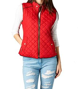 Hollywood Star Fashion Womens Quilted Vest Jacket Coat