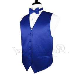 ROYAL BLUE MEN'S Tuxedo Suit Vest Waistcoat and Butterfly Bo