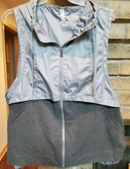 UNDER ARMOUR Running Active Vest Gray Hooded Loose Women's X